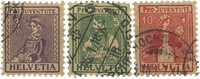 Schweiz 1917 - Michel 133-35 - Stemplet