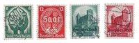 Empire Allemand - 1934 - Michel 544/547, oblitéré