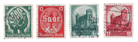 Empire Allemand - 1934 - Michel 544/547, oblitéré