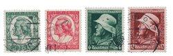 Empire Allemand - 1934 - Michel 554/555 + 569/70, oblitéré