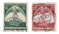 Empire Allemand - 1935 - Michel 586/587, oblitéré