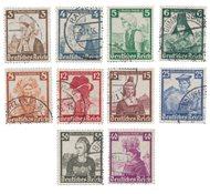 Duitse Rijk - 1935 - Michel 588-597 - Gebruikt