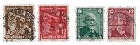 Duitse Rijk - 1936 - Michel 598-599 en 604-605 - Gebruikt