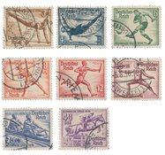 Empire Allemand - 1936 - Michel 609/616, oblitéré - Neuf avec charnière
