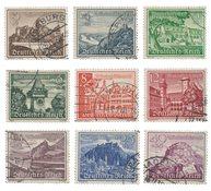 Tyske Rige 1939 - Michel 730-38 - Stemplet