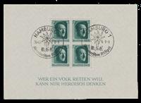 Empire Allemand - 1937 - Michel Block 7, oblitéré