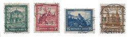 Empire Allemand - 1931 - Michel 459-462, oblitéré