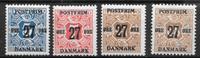 Danmark - AFA 4 x 27 øre - postfrisk