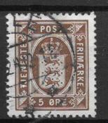 Danmark - AFA Tj 18 - stemplet