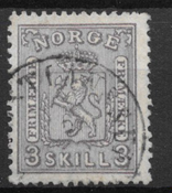 Norge 1867 - AFA 13 - stemplet