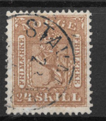 Norge 1863 - AFA 10 - stemplet