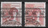Allemagne - Zones 1948 - AFA 30 + 30a - oblitérés