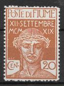 Fiume 1920 - AFA 112 - postfrisk