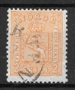 Norge 1867 - AFA 12 - stemplet