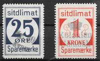 Grønland 1940 - 25 øre + 1 kr  - stemplet