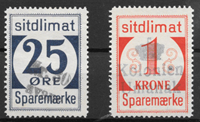 Groenland 1940 - 25 øre + 1 kr - oblitérés