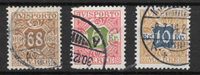 Danmark 1907 - Av 7+9+10 - stemplet