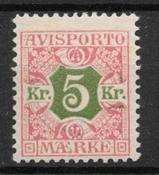 Danmark 1907 - Av 9 - ustemplet