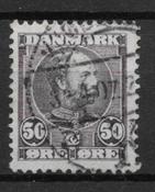 Danmark 1905 - AFA 50 - stemplet