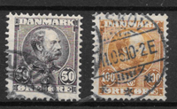 Danmark 1905 - AFA 50-51 - stemplet