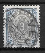 Danemark 1902 - AFA 22Cy - oblitérés