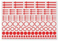 Marking stickers incl. dots, circles and arrows, pack of 10