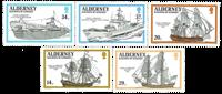 Alderney - Krigsskibe 1990 - postfrisk