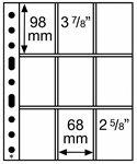 Pochettes en plastique SH312 3/3C, 312x242 mm, 50 pcs