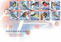 Sverige - Vinterfugle - Flot førstedagskuvert