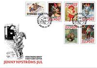 Sverige - Jenny Nyströms jul - Flot førstedagskuvert