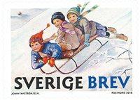 Sverige - Jenny Nyströms jul - Postfrisk rullefrimærke slædeturen