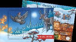 Danmark - Julehæfte 2018 - Postfrisk hæfte med 10 mærker