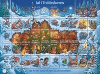 Danmark - Julemærkeark 2018 - Postfrisk takket, gummieret juleark