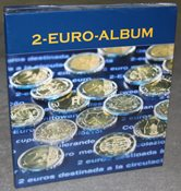 Møntalbum NUMIS,for alle 2-Euro erindringsmønter til 2015
