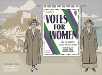 Jersey - Votes for Women, 100 years - Mint souvenir sheet