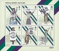 Jersey - Centenaire du droit de vote des femmes - Bloc-feuillet neuf