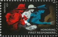Etats-Unis - Honoring First Responders * - Timbre neuf