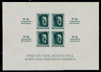 Tyske Rige - 1937 - Michel Blok 9, Postfrisk