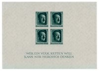 Tyske Rige - 1937 - Michel Blok 8, Postfrisk