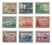 Tyske Rige - 1937 - Michel 651/659, Postfrisk