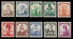 Empire Allemand - 1935 - Michel 588/597, neuf
