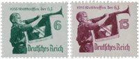 Tyske Rige - 1935 - Michel 584/585, Postfrisk