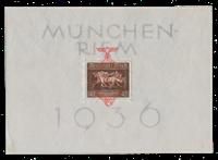 Tyske Rige - 1937 - Michel Blok 10, Postfrisk