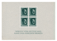 German Empire - 1937 - Michel Blok 7, mint