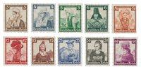 Duitse Rijk - 1935 - Michel 588-597 - Ongebruikt
