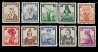 Tyske Rige - 1935 - Michel 588/597, Ubrugt