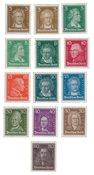 Tyske Rige - 1926 - Michel 385/397, Ubrugt