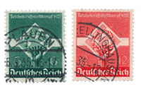 Empire Allemand - 1935 - Michel 571/572, oblitéré