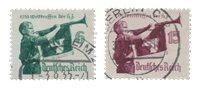 Empire Allemand - 1935 - Michel 584/585, oblitéré