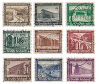 Tyske Rige - 1936 - Michel 634/642, Stemplet